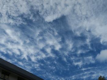 空が晴れてきた