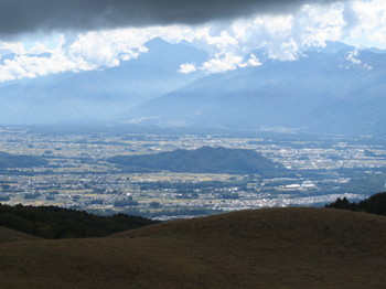 霧ヶ峰富士見台からの眺め