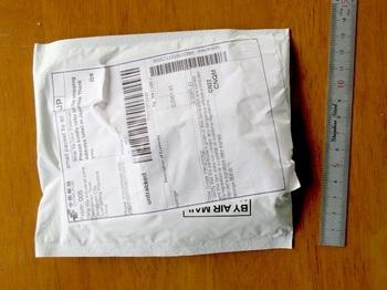 2週間ほどで届いたイヤーパッドの封筒