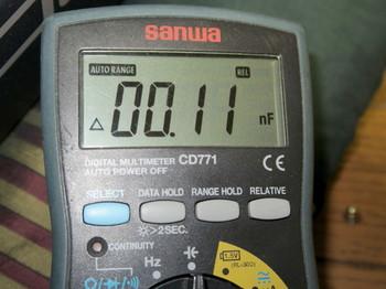 容量を測定すると、本来の百分の一以下