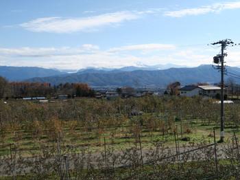 小黒川PA下りから見える山々