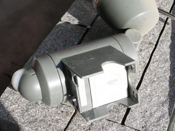 センサーライトの電池室の蓋