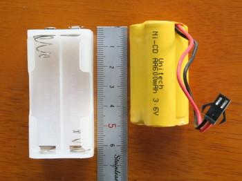 単三電池用ボックスの方が長い