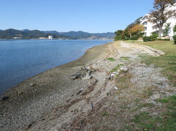 東急リゾートタウン浜名湖の岸辺