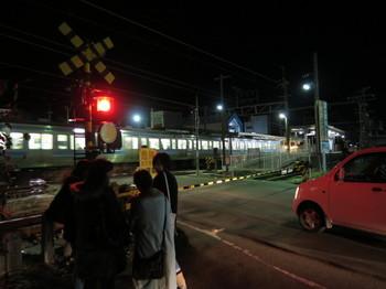 JR伊那北駅に列車が入ってきた