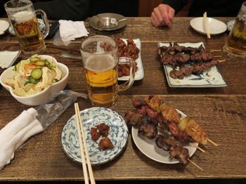 昭和軒で宴会・ビール