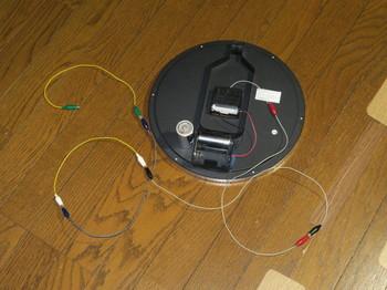 電波時計に仮アンテナを配線したところ