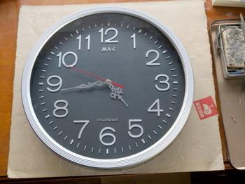 完成した掛け時計