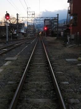 伊那北駅近くの踏切