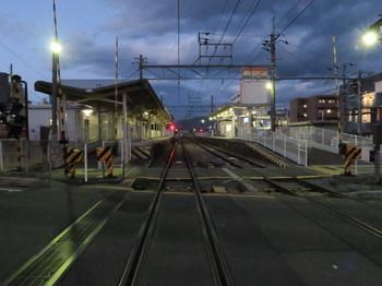夕方の伊那北駅