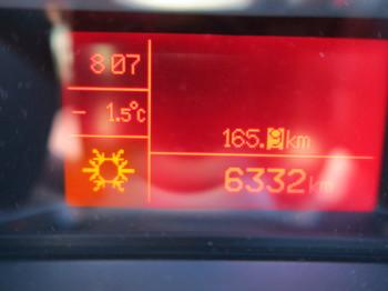 8時を過ぎても気温は氷点下