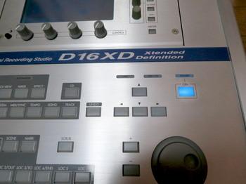コルグD16XDの電源を入れたところ