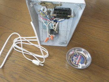 電源コードを接続端子で繋いだところ