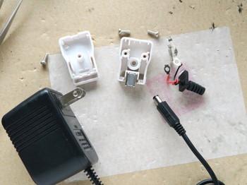 ACアダプターのコネクターを取り換えたところ