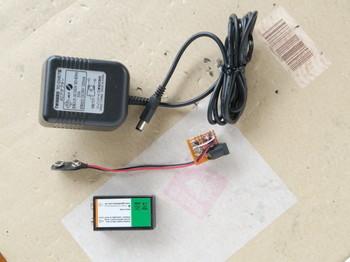 完成した充電回路とACアダプター