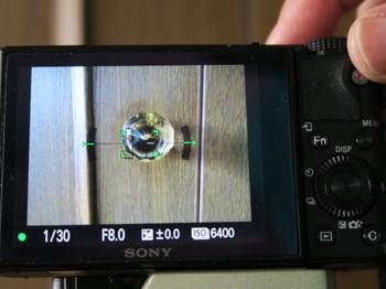 DSC-RX100M3は水準器を表示させると表示できない項目も多い