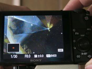 DSC-RX100M3ピント拡大機能使用時の画面