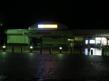 小黒川PAの売店は閉まっていた