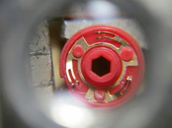 磨いたロータリーエンコーダーの接点部
