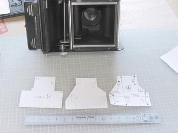 3か所の型紙を作成したところ