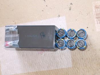 バッテリーとコンデンサの比較:上から見たところ