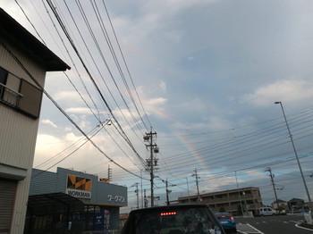 虹が出ている