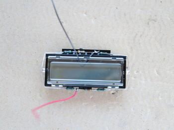 液晶部にLEDをハンダ付けし終えたところ