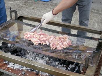 BBQの鶏肉