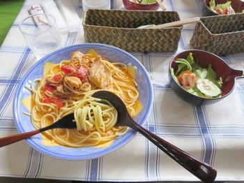 北欧風アリアのスパゲッティ